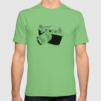 Camera Drawing Mens Fitted Tee Grass SMALL