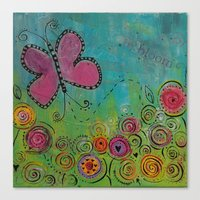 Canvas Print featuring In Bloom by Cally's Creations