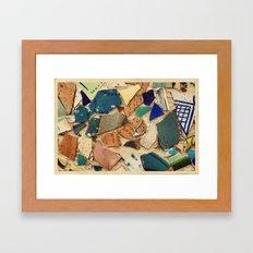 Neve Zedek Mosaic Wall Framed Art Print