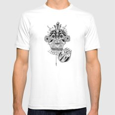 Roots SMALL White Mens Fitted Tee