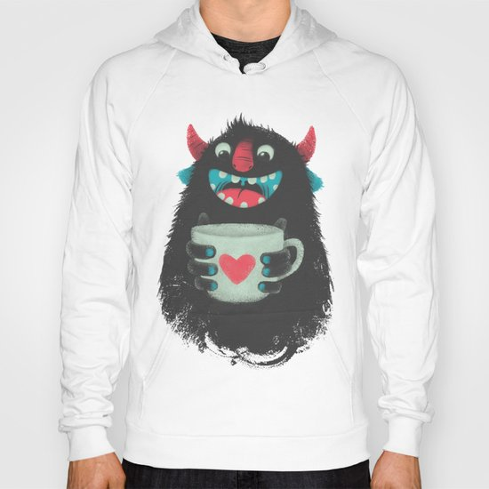 Demon with a cup of coffee Hoody