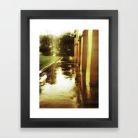 Rainsoaked Framed Art Print