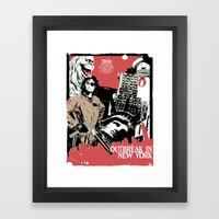 Outbreak in New York Framed Art Print