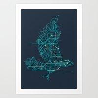 Art Print featuring Wind-Up Bird by Jay Fleck