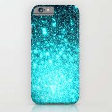 Turquoise Ombre Stars iPhone 6 Slim Case