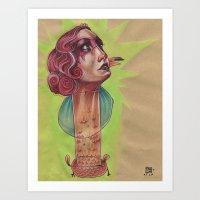 SUPER FLAMINGO Art Print