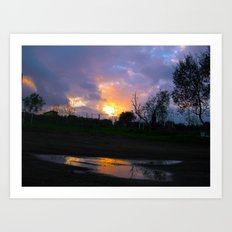 Sunset from my house 4 Art Print