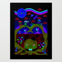 mr. octopus' bridge Art Print