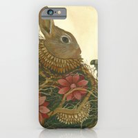 iPhone & iPod Case featuring The Rabbit and the Bee by Jess Polanshek