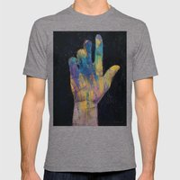 Hand Mens Fitted Tee Tri-Grey SMALL