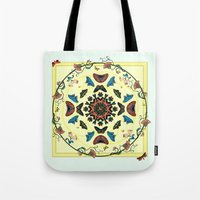 Butterfly Garden Abstract Collage Tote Bag
