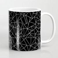 Shattered White On Black Mug