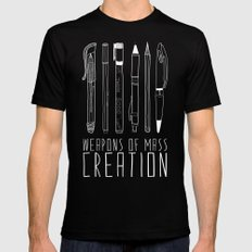 Weapons Of Mass Creation (on grey) Black Mens Fitted Tee SMALL