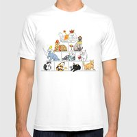 Cats Pyramid Mens Fitted Tee White SMALL
