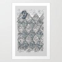 Argyle Stone Age Art Print