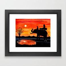 Carrie's Ride Framed Art Print