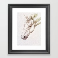 The Intellectual Horse Framed Art Print
