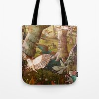 Of Mice and Owls Tote Bag