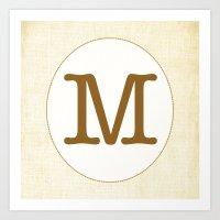 Vintage Letter Series - M Art Print