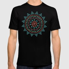 Moon Flower Mens Fitted Tee Black SMALL