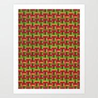Woven Pixels VI Art Print