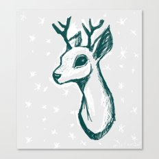 sketchy deer Canvas Print