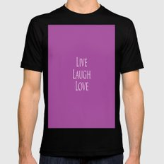 Live Laugh Love Black Mens Fitted Tee SMALL
