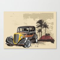 Hot Rod Paradise Canvas Print