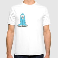 Leon the friendly Yeti White Mens Fitted Tee SMALL