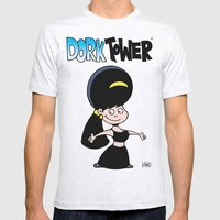 DORK TOWER - Gilly Mens Fitted Tee Ash Grey SMALL