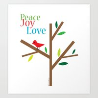 Peace Joy Love Art Print