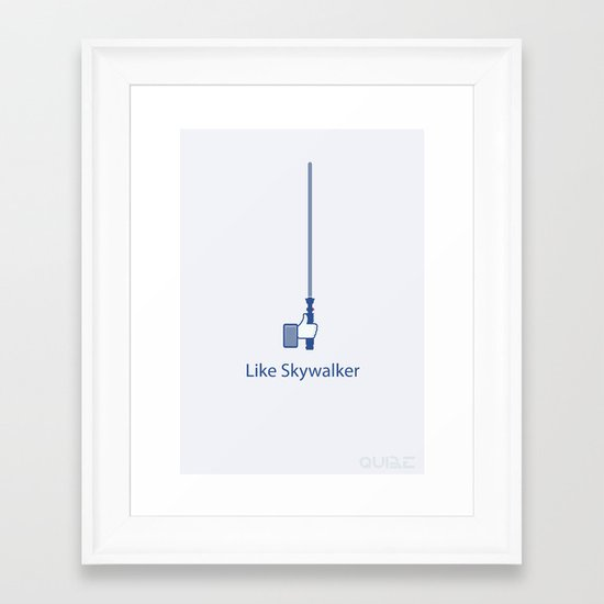 Coupling Up (accouplés) Like Skywalker Framed Art Print