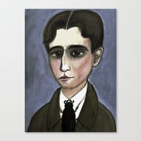 The Metamorphosis of Kafka, Literary Portrait Canvas Print