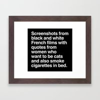 Screenshots and Quotes Framed Art Print