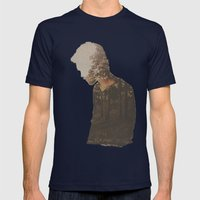 Escape Mens Fitted Tee Navy SMALL