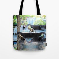Summer space, smelting selves, simmer shimmers. [extra, 10] Tote Bag