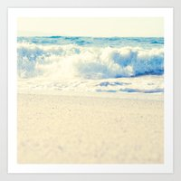 Beach Gold Art Print