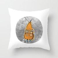 Mr Pear Throw Pillow