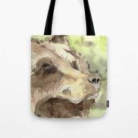 Watercolor Bear Tote Bag
