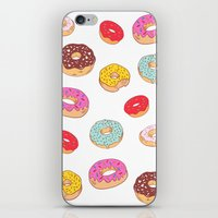 Donuts pattern iPhone & iPod Skin