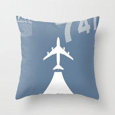 Boeing 747 Throw Pillow