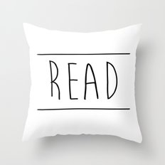 Read Between The Lines Throw Pillow