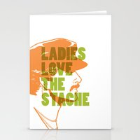 Ladies Love The Mustache Stationery Cards