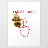 Large Chef Art Print