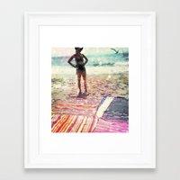 At the Beach Framed Art Print