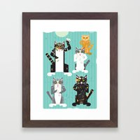 Cats I have known Framed Art Print
