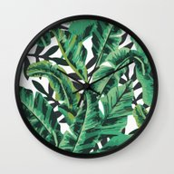 Tropical Glam Banana Lea… Wall Clock