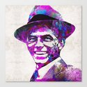 Frank Sinatra Art - Pink Sinatra - By Sharon Cummings Canvas Print