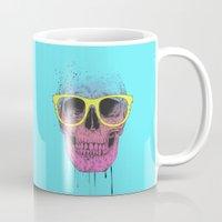 Pop Art Skull With Glass… Mug