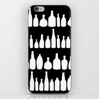 Bottles Black and White iPhone & iPod Skin
